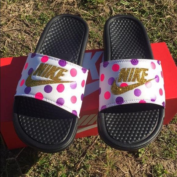 Nike Shoes   Custom Nike Slides   Poshmark